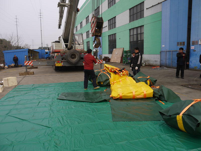 Load proof test water bag passed inspection issued by Bureau Veritas